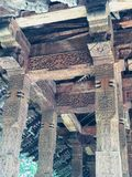 Kandy Valuable Ancient Wood Carving stock image