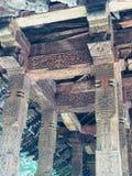 Kandy-wertvolles altes hölzernes Schnitzen stockbild