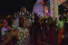 Kandyan舞蹈家,斯里兰卡 图库摄影