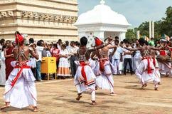 Kandyan dans i Anuradhapura, Sri Lanka Fotografering för Bildbyråer