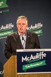 Kandydat dla gubernatora dla stanu Virginia, Terry McAuliffe Obraz Royalty Free