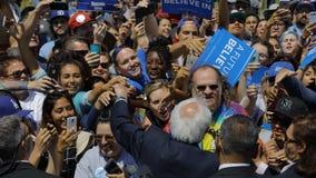 Kandyday Na Prezydenta Bernie Sanders gospodarzi Prezydencki Campaig Zdjęcia Stock