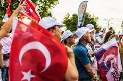 Kandydowanie Na Prezydenta Muharrem Ince społeczeństwa wiec W Yalova mieście - Turcja zdjęcie royalty free