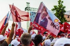 Kandydowanie Na Prezydenta Muharrem Ince społeczeństwa wiec W Yalova mieście - Turcja obraz stock