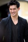 Kane Theeradej, Thai Presentor of Nissan March Stock Photography