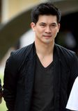 Kane Theeradej, Thai Presentor of Nissan March Stock Photo