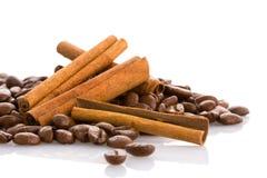 Kaneel en koffie Stock Foto's