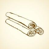 kaneel Vector tekening Royalty-vrije Stock Afbeelding