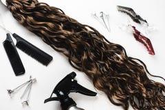 Kanekalon Покрашенные искусственные стренги волос Материал для заплетая оплеток стоковое фото