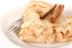 Kanel och äppelpaj Royaltyfria Bilder