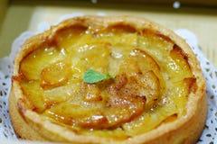 Kanelbrun äppelpaj Fotografering för Bildbyråer