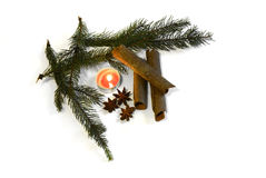 Kanelbrun anis för jul med garnering November 14, 2014 Arkivbild
