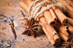 kanelbrun kryddnejlika Royaltyfria Bilder