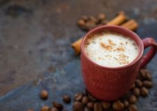 kanelbrun varm stick för choklad Royaltyfria Bilder