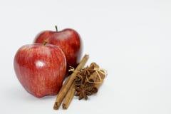 kanelbruna äpplen Royaltyfri Fotografi