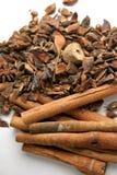 kanelbruna kryddor royaltyfri bild