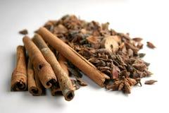 kanelbruna kryddor royaltyfria bilder