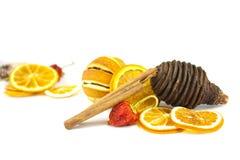 kanelbruna orange sticks Fotografering för Bildbyråer