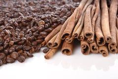 kanelbrunt kaffe Arkivbilder