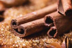 kanelbrunt socker Arkivfoto