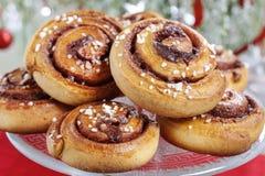 Kanelbulle - petits pains de cannelle suédois Image stock