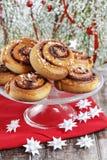 Kanelbulle - petits pains de cannelle suédois Photographie stock libre de droits