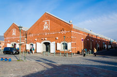 Kanemori Red Brick Warehouse in Hakodate port Stock Images