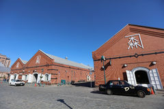 Kanemori Red Brick Warehouses at Hakodate, Japan Royalty Free Stock Photos