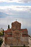 kaneo Μακεδονία ohrid ST John εκκλησιών Στοκ φωτογραφία με δικαίωμα ελεύθερης χρήσης