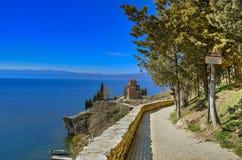 Kaneo - Ohrid Macedônia imagem de stock