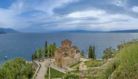 Kaneo - St John - lago Ohrid Macedonia Foto de archivo libre de regalías