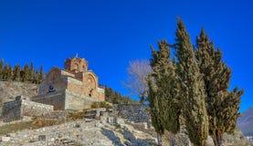 Kaneo - St John - Ocrida Macedonia fotografia stock
