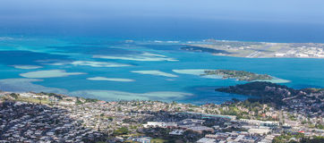 Kaneohe海湾沙洲 免版税库存照片
