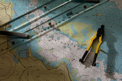kaneohe диаграммы залива Стоковое Изображение RF