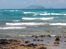 Kaneohe fjärd i Hawaii Royaltyfria Foton