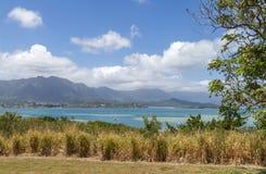Kaneohe fjärd Oahu Hawaii Royaltyfria Foton