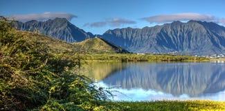 Kaneohe-Marineinfanteriekorps niedriges Hawaii Stockfotos