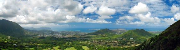 Kaneohe Panorama stockfoto