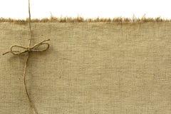 Kanfas och rep Arkivfoto