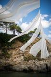 Kanfas på en strand i Zakynthos, Grekland Royaltyfri Bild