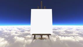 Kanfas på molnen royaltyfri illustrationer