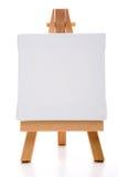 kanfas som målar enkel white Royaltyfria Bilder