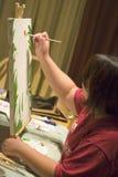 kanfasmålning Fotografering för Bildbyråer