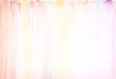 Kanfastexturbakgrund med subtila vattenfärgband Royaltyfria Bilder