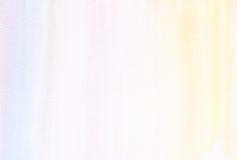 Kanfastexturbakgrund med subtila vattenfärgband Arkivbild