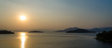 Kang Kra Chan Dam - Thailand. Before Sunset : Kand Kra Chan Dam at PrachupkiriKan - Thailand royalty free stock image