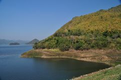 Kang Kra Jarn Dam in Thailand Royalty Free Stock Photo