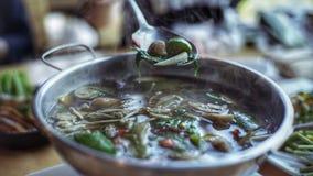 `Kang leang` Thai soup stock image