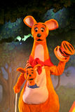Kanga and Roo from Winnie the Pooh. MARNE-LA-VALLEE, FRANCE - August 23, 2006 - Kanga and Roo in the Winnie the Pooh and Friends, too! show in Fantasyland in Royalty Free Stock Photo