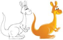 Kangaroo. Isolated clip-art of a kangaroo (2 versions of the illustration Royalty Free Stock Image